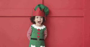 Child dressed as Elf