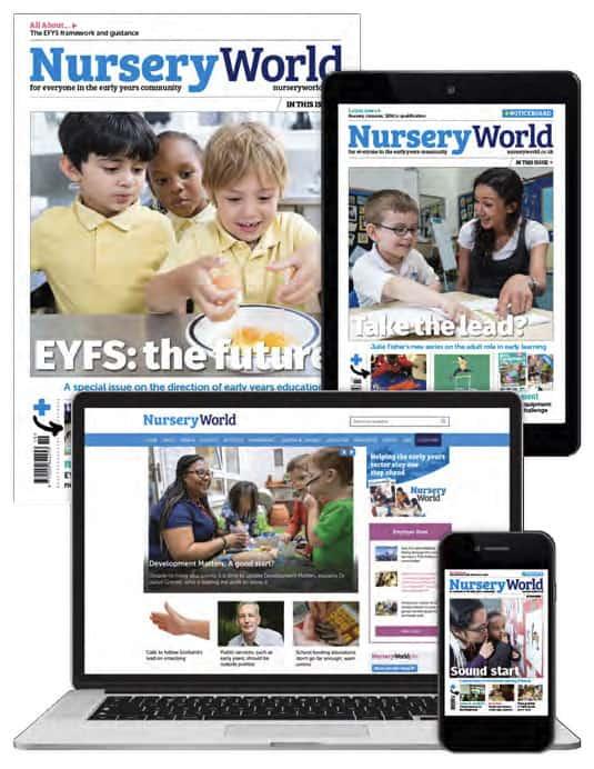 nursery world advert