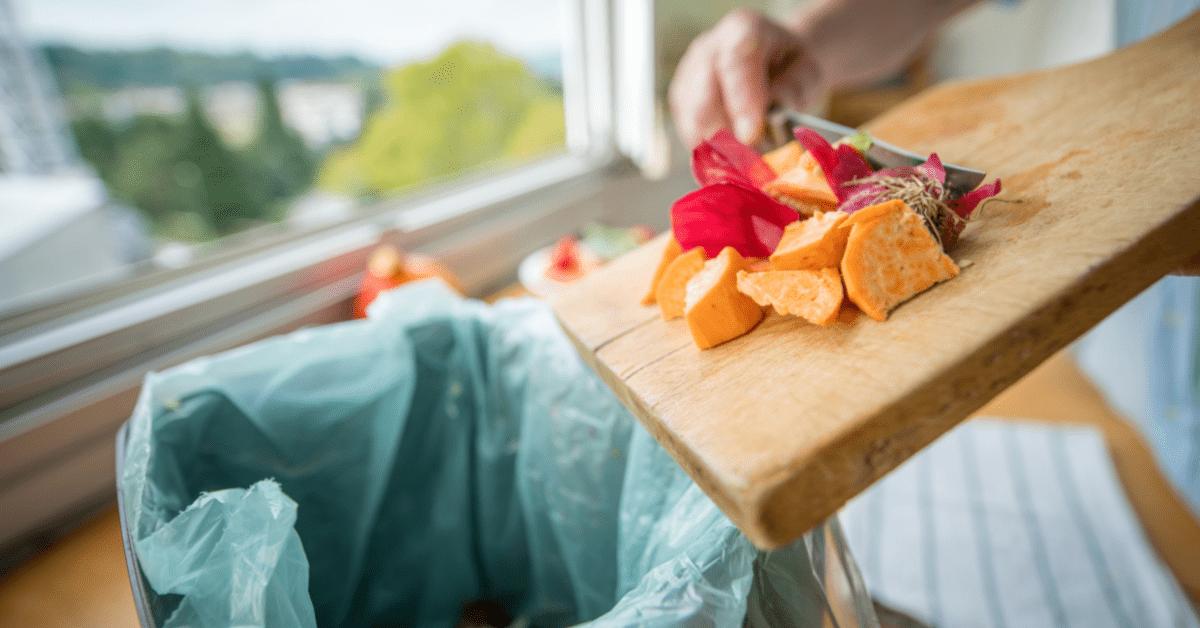 food waste chopping board