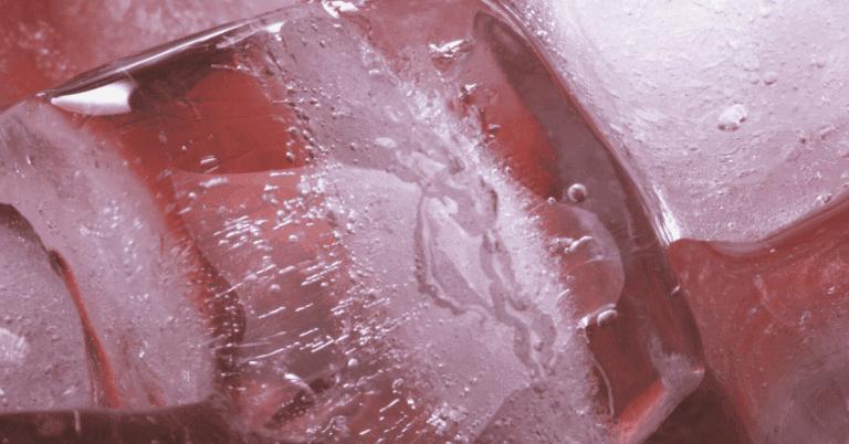 Red ice sensory play