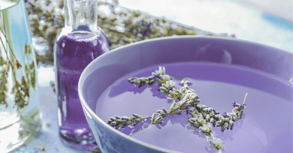 Lavender sensory water play