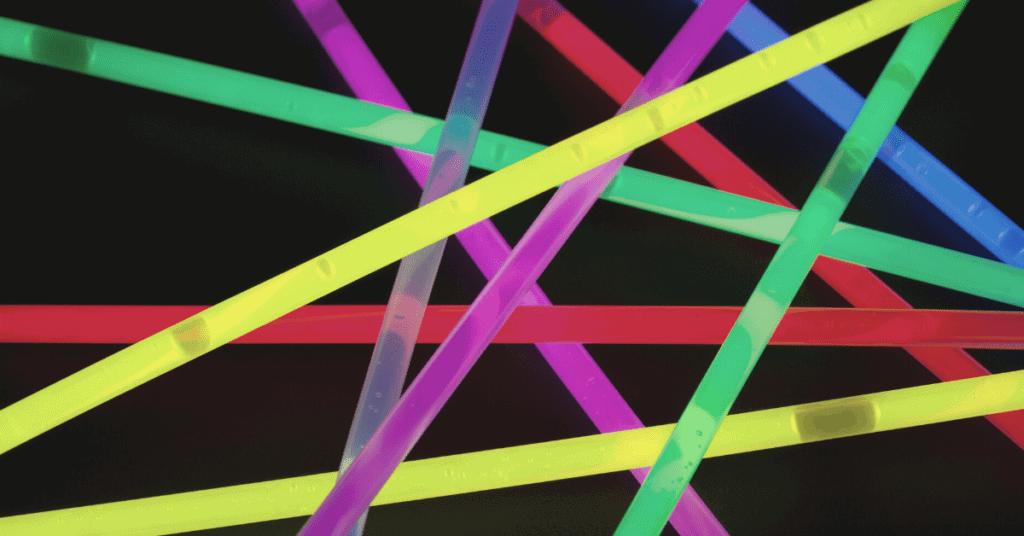 colourful glowsticks