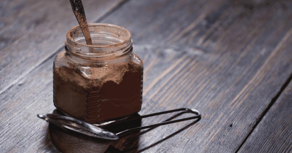 jar of hot chocolate