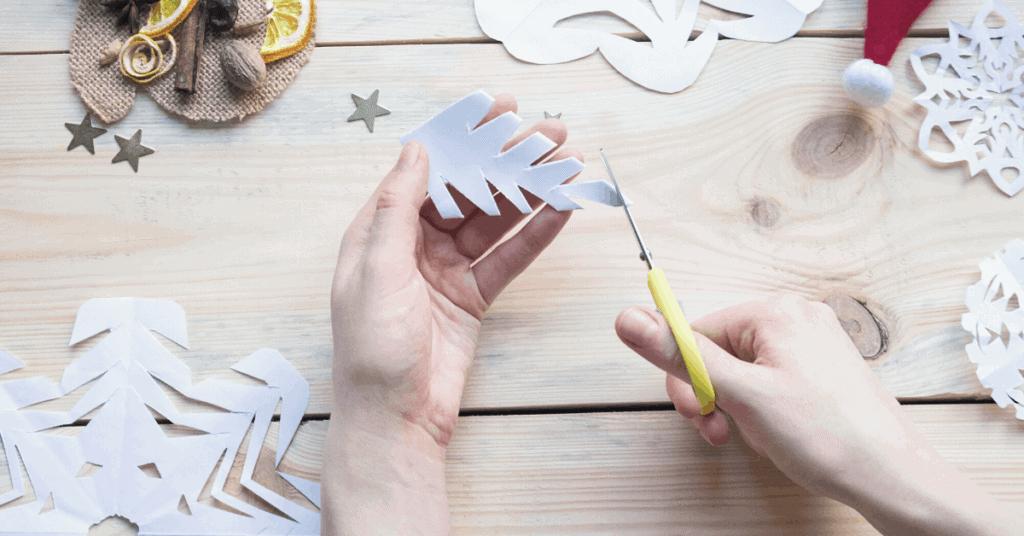 snowflake paper art
