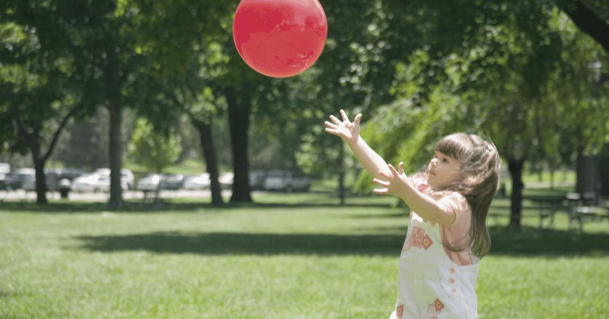 Child catching ball